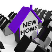 New Home House Means Buying Or Renting Out Property — Stock Photo
