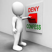Confess Deny Switch Shows Confessing Or Denying Guilt Innocence — Stock Photo