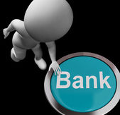Bank Button Shows Deposits Withdrawals And Payments — Stock Photo