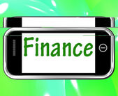 Finance Smartphone Shows Online Lending And Financing — Stock Photo