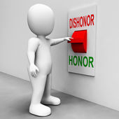 Dishonor Honor Switch Shows Integrity And Morals — Stock Photo