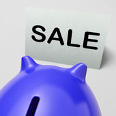 Sale Piggy Bank Means Bargain Promo Or Clearance — Stock Photo