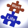 Work Life Puzzle Shows Balancing Job And Relaxation — Stock Photo #42190021