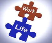 Work Life Puzzle Shows Balancing Job And Relaxation — Foto Stock