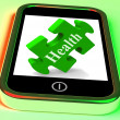 Health Smartphone Means Looking After Yourself And Wellbeing — Stock Photo #42442113