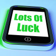 Lots of Luck On Phone Shows Good Fortune — Stock Photo