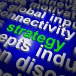 Strategy Word Cloud Shows Business Solution Or Management Goal — Stock Photo