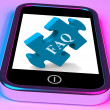 FAQ Smartphone Shows Frequently Asked Questions And Answers — Stock Photo #42443395
