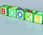 Books Blocks Shows Novels Non-Fiction And Reading — Stock Photo