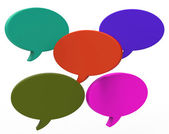 Blank Speech Balloon Shows Copyspace For Thought Chat Or Idea — Stock Photo