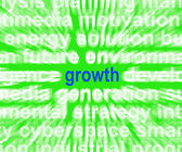 Growth Word Shows Progress Gain And Expansion — Stock fotografie