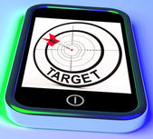 Target Smartphone Shows Goals Aims And Objectives — Photo