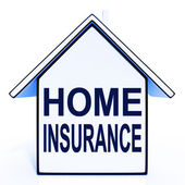 Home Insurance House Means Protecting And Insuring Property — Stock Photo