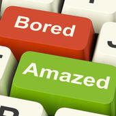 Bored Amazed Keys Shows Boredom Or Amaze Reaction — Stock Photo