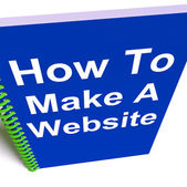 How to Make a Website on Notebook Shows Online Strategy — Stock Photo