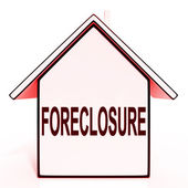 Foreclosure House Means Repossession To Recover Debt — Stock Photo