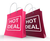 Hot Deal Bags Show Shopping  Discounts and Bargains — Stock Photo