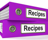 Recipes Folders Means Meals And Cooking Instructions — Stock Photo