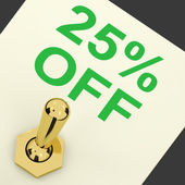 Switch Shows Sale Discount Of Twenty Five Percent Off 25 — Stock Photo