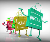 Retail Bags Show  Commercial Sales and Commerce — Stock Photo