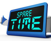 Spare Time Clock Means Leisure Or Relaxation — Stock Photo