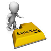 Expertise Key Shows Specialist Knowledge And Proficiency — Stock Photo