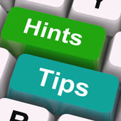 Hints Tips Keys Mean Guidance And Advice — Photo