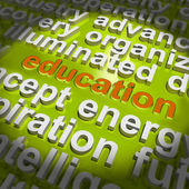 Education Word Cloud Means Teaching Schooling Or Training — Stock Photo