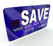 Save Bank Card Means Financial Reserves And Savings Account — Stock Photo