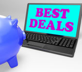 Best Deals Laptop Shows Online Bargains And Savings — Stock Photo