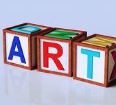 Art Blocks Show Inspiration Creativity And Originality — Stock Photo