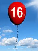 16 Balloon Shows Sweet Sixteen Birthday Party — Stock Photo