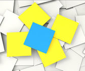 Blank Post it Messages Shows Copyspace To Do And Note — Stock Photo