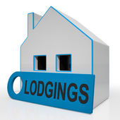 Lodgings House Means Room Or Apartment Available — Stock Photo