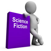 Science Fiction Book And Character Shows SciFi Books — Stock Photo