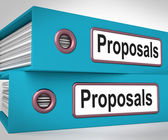 Proposals Folders Mean Suggesting Business Plan Or Project — Zdjęcie stockowe