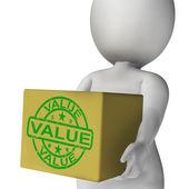 Value Box Means Quality And Worth Of Goods — Photo