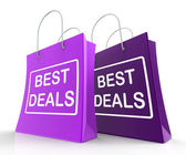 Best Deals Bags Represent Bargains and Discounts — Stock Photo