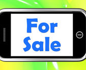 For Sale On Phone Means Purchasable Available To Buy Or On Offer — Stockfoto