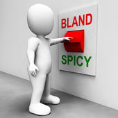 Bland Spicy Switch Shows Plain Hot Cooking Flavours — Stock Photo
