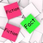 Fact Fiction Post-It Notes Mean Correct Or Falsehood — Stock Photo #45444781