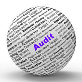 Audit Sphere Definition Means Financial Inspection Or Audit — Stock Photo