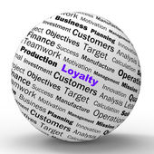 Loyalty Sphere Definition Shows Honest Fidelity And Reliability — Stock Photo