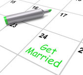 Get Married Calendar Means Wedding Day And Vows — Stock Photo