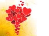 Bunch Of Hearts Shows Valentines Day And Romanticism — Stock Photo