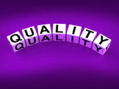 Quality Blocks Mean Qualities Traits and Aspects — Stock Photo