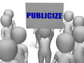 Publicize Board Character Means Commercial Advertising Or Busine — Stock Photo