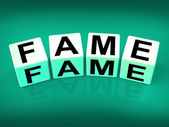 Fame Refers to Famous Renowned or Notable Celebrity — Stock Photo