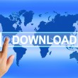 Download Map Shows Downloads Downloading and Information Transfe — Stock Photo #45523329