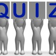 Quiz Banners Means Quiz Games Or Exams — Stock Photo #45526693